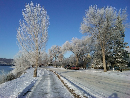 Peace River, 99th Street, 16 December 2011 (Photo: Hendrik Slegtenhorst)