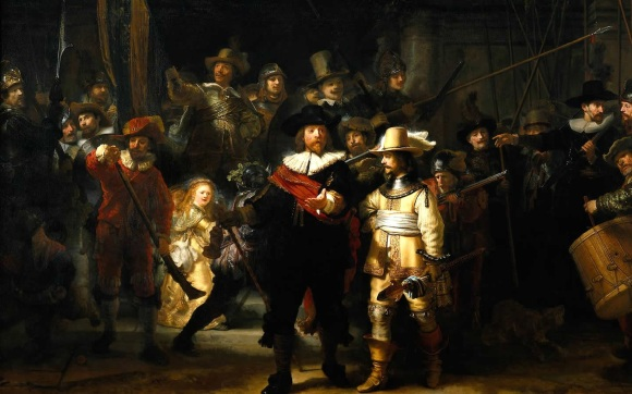 Rembrandt : The Night Watch, 1641-42, Amsterdam , Rijksmuseum