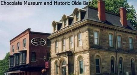 Chocolate Museum and the Olde Bank in downtown St. Stephen, NB (Courtesy: Tourism New Brunswick)