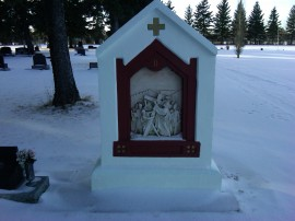 Second station of the cross, Morinville Cemetery. 31 January 2012. (Photo: Hendrik Slegtenhorst)