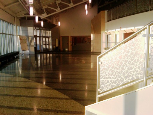 Morinville Cultural Centre, lobby. 31 January 2012. (Photo: Hendrik Slegtenhorst)