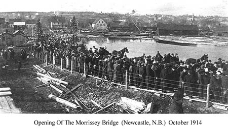 Opening of the Morrissey Bridge (Newcastle, N.B.) Oct. 1914