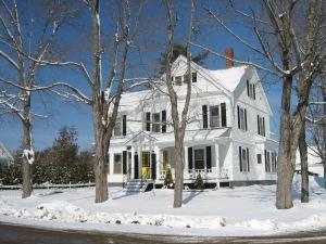 1 Cedar Street, my house in St. Stephen, New Brunswick. 28 February 2008. (Photo: Gloria Steel)
