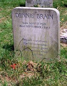 Dennis Brain Tombstone