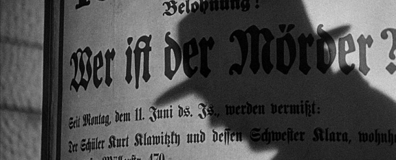 Still from Fritz Lang's M.