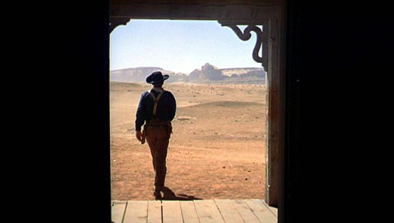 The famous closing shot of The Searchers