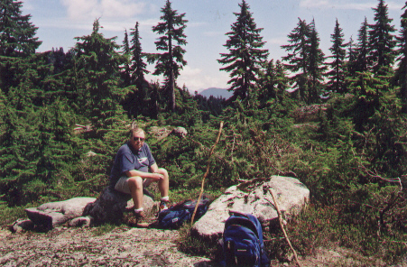 Mystery Peak, Mount Seymour, North Vancouver, BC. 8 August 2002. (Photo: Gloria Steel)