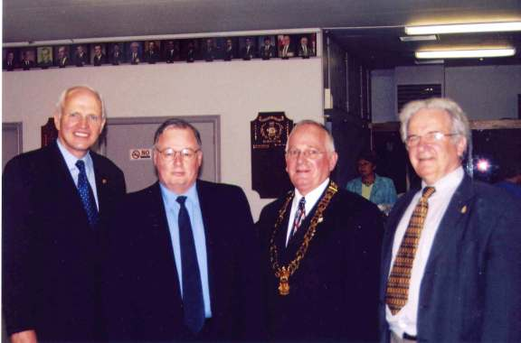 As CAO, St. Stephen, NB. With Greg Thompson, MP & Minister of Veterans Affairs; Bob Brown, Mayor; Tony Huntjens, MLA. 2007.