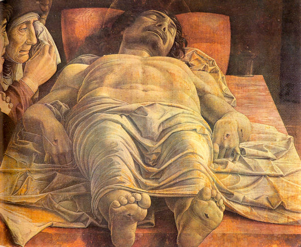 Andrea Mantegna: The Lamentation of the Dead Christ, ca. 1480.
