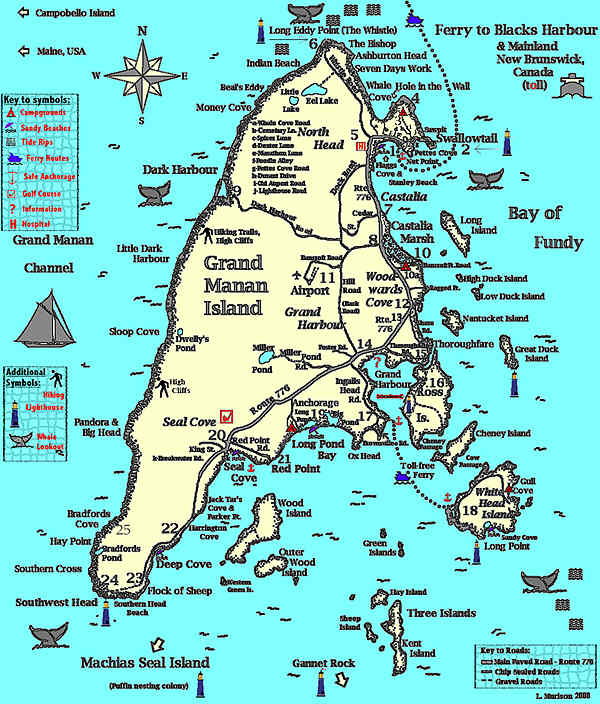 Map of Grand Manan, New Brunswick