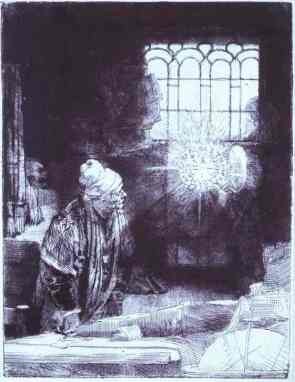 Rembrandt: Faust in his Study (1650-52)