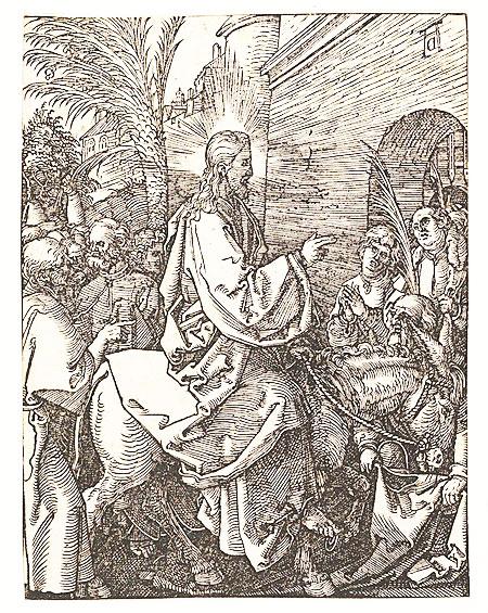 Albrecht Dürer, Jesus on the donkey, Palm Sunday. 1506.