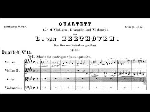 Beethoven, String Quartet 14 in c#, Op. 131, opening