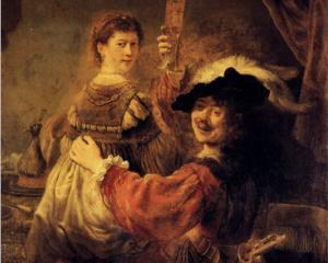 Self-portrait with Saskia