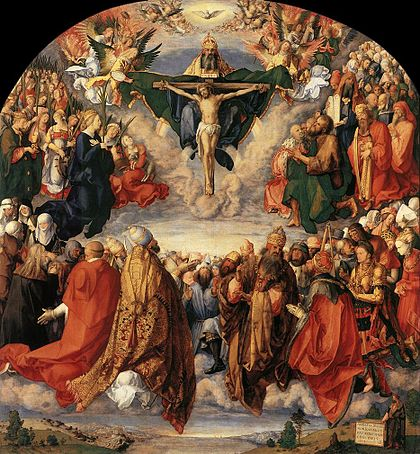Albrecht Dürer, Adoration of the Trinity (Kunsthistoriches Museum, Vienna)