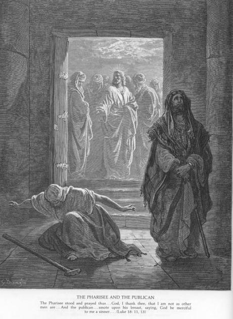 Gustave Doré, The Pharisee and the Publican (Courtesy: catholic-resources.org)