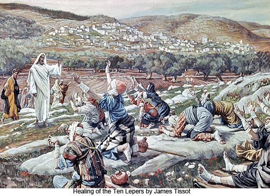 James Tissot, Healing of the Ten Lepers (Courtesy: www.gospel-parallels.net)