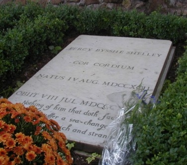 Percy Shelley's Grave (Courtesy: www.poetsgraves.co.uk)
