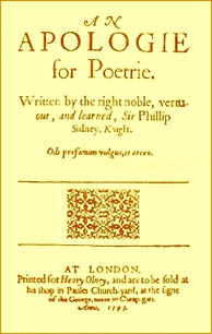 Sir Philip Sidney: An Apology for Poetry (Courtesy: www.stjohns-chs.org)