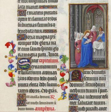 Nunc dimittis. Les très riches heures du Duc de Berry (Courtesy: Wikipedia)