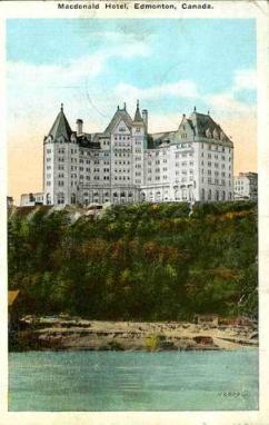 Old postcard of Macdonald Hotel