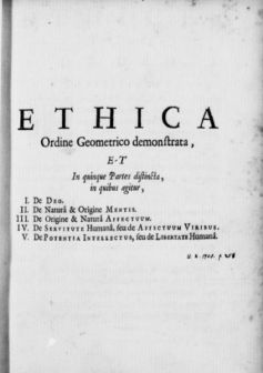 Spinoza: Ethica