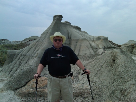 At Dinosaur Provincial Park, a UNESCO World Heritage Site, near Brooks, Alberta, 14 July 2012 (Photo: Gloria Steel)