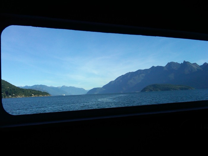 View of Howe Sound, British Columbia, from the Bowen Island-Mainland ferry, 7 October 2010 (Photo: Hendrik Slegtenhorst)