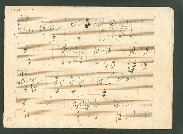 Beethoven, Op. 27/2, first movement, autograph