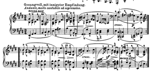 Beethoven: Op. 109, aria of the third movement