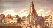 Thomaskirche and Thomasschule, Leipzig, where Bach was Thomaskantor