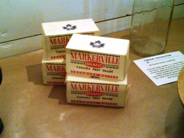 Markerville Creamery butter. The Creamery operated from 1899 to 1972.