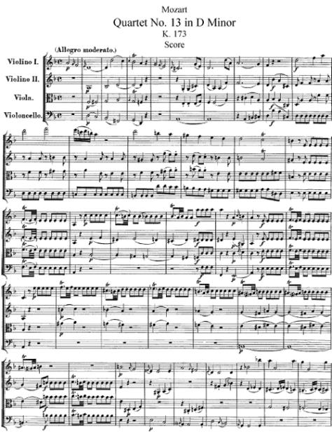 Mozart, K. 173