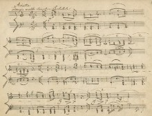 Beethoven, manuscript of the Arietta, Op. 111