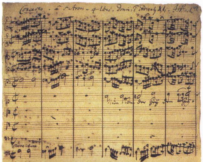Bach Cantata 61/1 Autograph (Courtesy: www.omnifacsimiles.com)