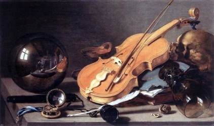 Vanitas with Violin and Glass Ball, by Pieter Claesz