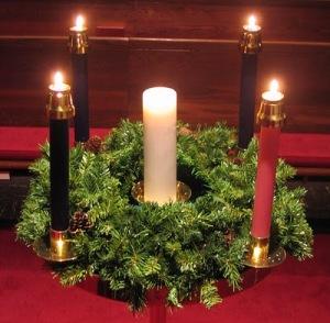 Advent wreath (Courtesy: pastorblog.cumcdebary.org)