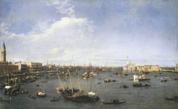 Canaletto: Bacino di San Marco (Courtesy: www.outpost-art.org) One of his greatest masterpieces.