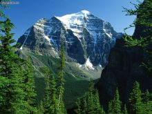 Mount Temple, Canadian Rockies, Alberta (Courtesy: wallpaperweb.org)