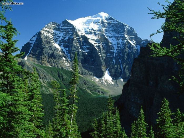Mount Temple, Canadian Rockies, Alberta (Courtesy: wallpaperweb.org)