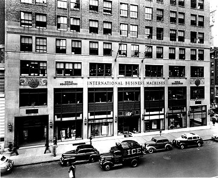 IBM World Headquarters, New York, dedicated January 1938 (Courtesy: sysrun.haifa.ibm.com)
