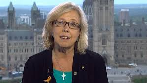 Elizabeth May, at Parliament (Courtesy: ctv.news)