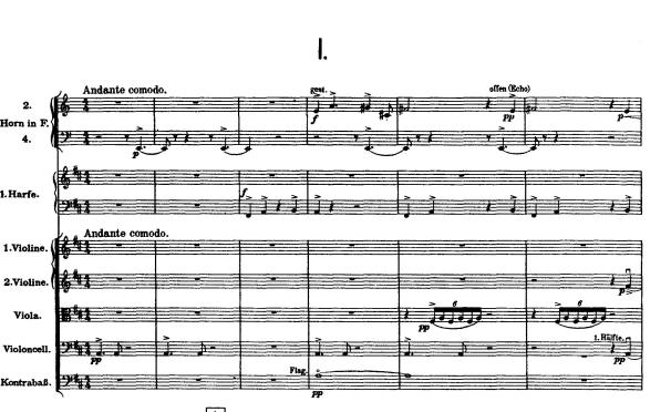 Gustav Mahler, Symphony 9. opening