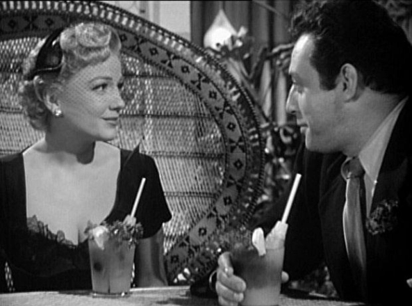 Anne Baxter and Raymond Burr at The Blue Gardenia (Courtesy: www.cinemaadhoc.info)