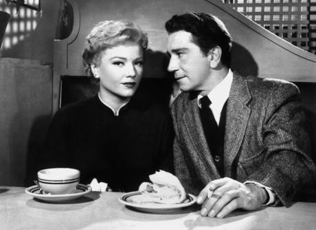 Anne Baxter and Richard Conte at Bill's Beanery (Courtesy: www.viennale.at)