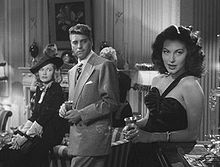 Burt Lancaster discovering Ava Gardner, in The Killers