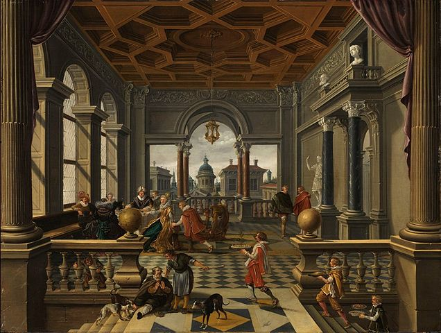 636px-Bartholomeus_van_Bassen,_The_Parable_of_the_Rich_Man_and_Lazarus,_ca._1620-30.