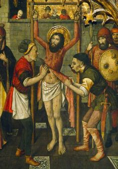 The Flaying of St. Bartholomew - Jaume Huguet 1412-1492