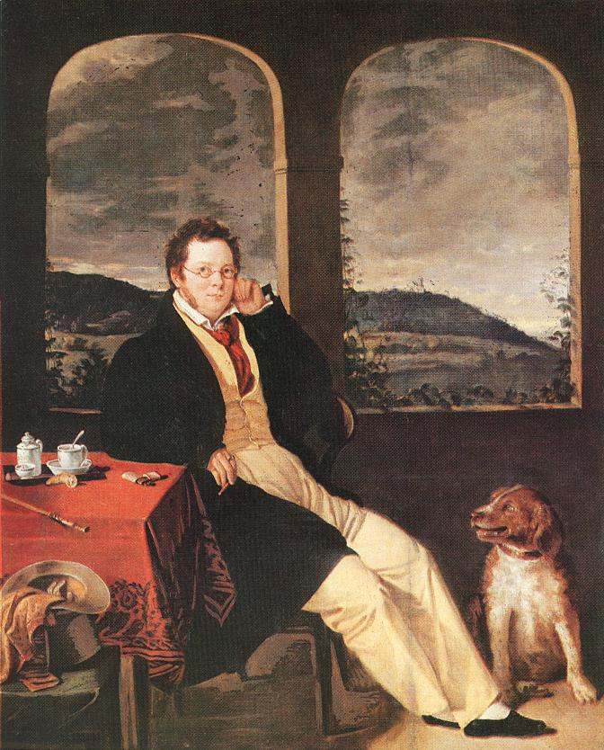 Melegh_Portrait_of_a_Man_(Schubert)_1827