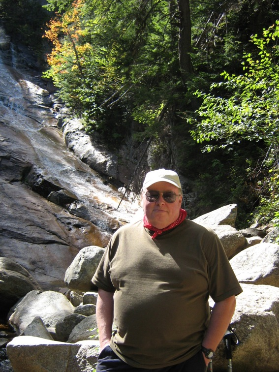 At Ripley Falls, Crawford Notch, White Mountains, New Hampshire, 20 September 2008 (Photo: Gloria Steel)